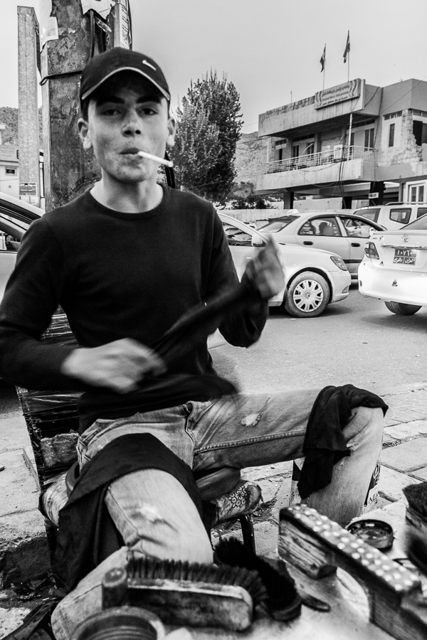 2013 04 11 17.44.21 Get rhythm   Shoeshine Boy in Iraq street portrait street photography shoeshine boy Middle East iraq dohuk black and white