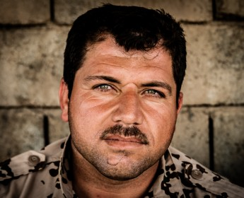 "Portrait of a Kurdish Peshmerga who fought 2003 in Operation ""Enduring Freedom"""